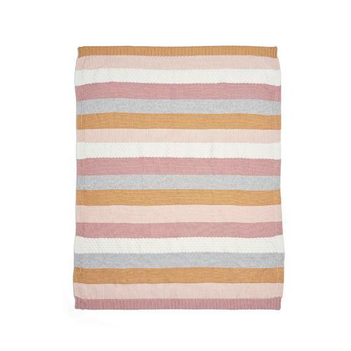 7883B1605_01_Knitted-Blanket---Multi-Stripe-Pink